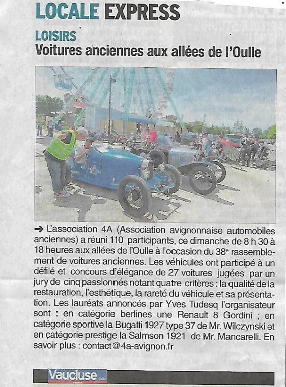 Article Vaucluse matin