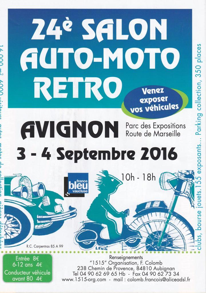 Salon Auto Moto Rétro 3 & 4 septembre 2016