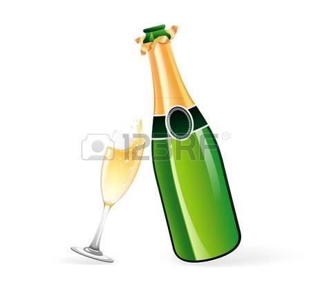 15709911 illustration de bouteille de champagne et le verre
